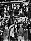 President Lyndon and Lady Bird Johnson Behind Robert  Jacqueline and Edward Kennedy