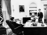 President John Kennedy with His Long Time Aide and Speech Writer  Theodore Sorensen