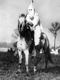 Klansman Doing Sentry Duty Near the Klan Encampment at Kiles  Ohio