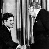 President Lyndon Johnson Shakes the Hand of Senator Edward Kennedy