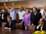 Dignitaries Watch the Overtime Shootout of the Chelsea vs Bayern Munich Champions League Final