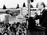 President Gerald Ford Speaks to a Crowd of 6 000 in Melvin  Illinois