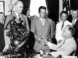 President Franklin Roosevelt Shakes Hands with Donald Douglas  1936 Winner of the Collier Trophy