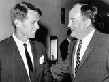 Robert Kennedy and Hubert Humphrey at the Capitol  Aug 4  1964