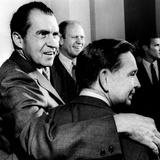 President Nixon with His Arm around Democratic Majority Leader Carl Albert