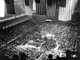 Mass Rally of 25 000 to Draft Gen Dwight Eisenhower as Republican Candidate for Pres  Feb 2  1952