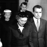 Vice President Richard Nixon and Wife Pat  Leaving the East Whittier Friends Church