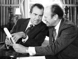 President Richard Nixon Meets with House Minority Leader Gerald Ford at White House  Oct 13  1973