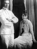 Dwight D Eisenhower  Lieutenant  and Mamie Eisenhower Pose Together on Wedding Day  Jul 1  1916