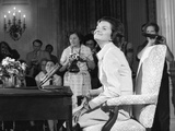 New First Lady  Betty Ford  at Her First Press Conference