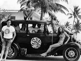 Students During Spring Break at Ft Lauderdale with 1930s Roadster  Apr 20  1968