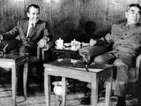 Pres Richard Nixon and Premier Chou En-Lai before First Plenary Session  Beijing  Feb 21  1972