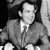 President Richard Nixon Smiles During a White House Signing Ceremony