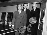 President Franklin Roosevelt Inspects the New Union Pacific Streamliners