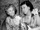 Pat Nixon and Mamie Eisenhower at Biennial Convention of Nat'l Federation of Rep Women  Oct 8  1969
