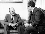 Pres Gerald Ford and Sec of State  Henry Kissinger  after Pres Nixon's Resignation  Aug 10-12  1974