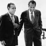 President Richard Nixon and Friend Charles 'Bebe' Rebozo  Key Biscayne  Florida  May 4  1973