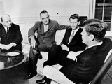 President John Kennedy Meeting with Secy