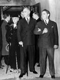 President Franklin Roosevelt after Services at St James Episcopal Church