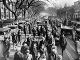Part of the Army of Hunger Marchers Walk Down Pennsylvania Avenue on Dec 6  1931