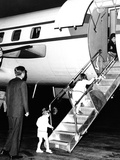 Jacqueline Kennedy Welcomed Home after Vacation on Aristotle Onassis's Yacht  Oct 17  1963