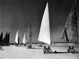 Seabrezze Regatta Sand Sailing on Daytona Beach  Florida