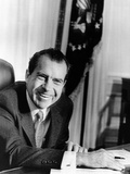 President Richard Nixon at Oval Office Desk on First Full Day in Presidency  Jan 21  1969