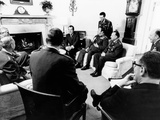 Pres Richard Nixon with Military Commanders from Member Nations of Central Treaty Organization
