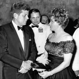President John Kennedy with Movie Star Shelley Winters