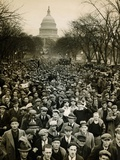10 000 Unemployed Hunger Marchers to the Jammed the Streets Near the Capitol on Jan 7  1932