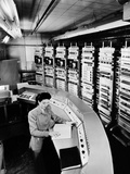 Female Operator at the Console of the 'Raydac'  Raytheon Digital Automatic Computer  August 2  1952