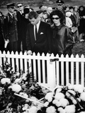 Jacqueline Kennedy and Attorney General Robert Kennedy Visit Pres John Kennedy Grave  Nov 27  1963