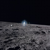 Apollo 12 Astronaut Alan Bean Deploys Scientific Experiments on the Lunar Surface  Nov 19  1969