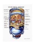 Cutaway View of Skylab  the First Earth Orbit Space Station