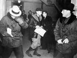 J Edgar Hoover Arriving in St Paul  Minn