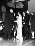 French Pres Charles De Gaulle (Left)  Greets Pres John and Jacqueline Kennedy at the Elysee Palace