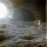 Apollo 12 Astronaut Alan Bean Deploys Scientific Experiments on the Lunar Surface