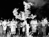 Ku Klux Klan Cross Burning Ceremony  Upper Marlboro  Maryland