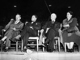 Us Communist Leaders at a Madison Square Garden Pre-Election Rally