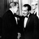 President Richard Nixon Shakes Hands with Sen Eugene McCarthy at White House Reception for Congress