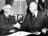 President Harry Truman with President Elect Dwight Eisenhower after Nov Elections  Nov 18  1952