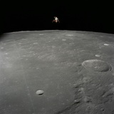 Apollo 12 Lunar Module Intrepid Landing on the Moon's Surface