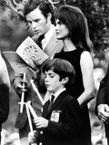 Jacqueline Kennedy Onassis and Son John Kennedy Jr Attend Memorial Mass