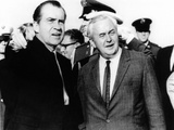 President Richard Nixon Was Met by British Prime Minister Harold Wilson  Mindenhall Air Force Base