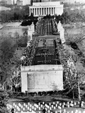 Pres John Kennedy's Funeral Procession  Memorial Bridge to Arlington Nat'l Cemetery  Nov 25  1963