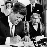 President John Kennedy Signs a Joint Resolution for the Woodrow Wilson Memorial Commission