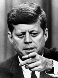 President Kennedy Pointing to a Reporter During a Press Conference  Feb 14  1963