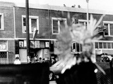 A Bullet Hole Made During an Exchange of Gunfire of LA Police and Black Panthers  Dec 8  1969
