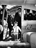 John Kennedy Jr Enters the Presidential Limousine as His Father  the President  Follows