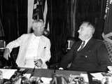 President Franklin Roosevelt and Vice President John Nance Garner at the White House  June 12  1936